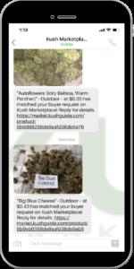 SMS / Text Message Buyer Alerts | Kush com