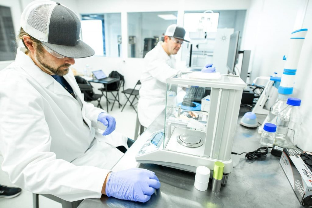 testing CBD Isolate in a lab to ensure quality