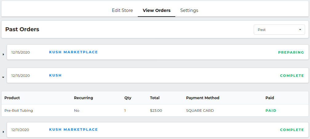 payment processing on screen mockup 1